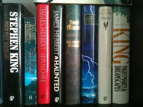 one of my bookshelves, earlier today