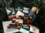 the awesome Samhain-sponsored Dead By Dawn goodie bag, chock full o' horror treats