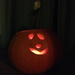 Little monsters! Pumpkin carved by my sons (aged 5 and 3)