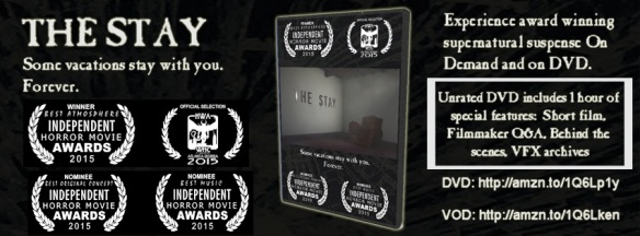 The Stay DVD and VOD written and directed by Frazer Lee